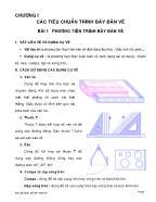 Bài giảng vẽ kĩ thuật cơ bản - Chương I: Các tiêu chuẩn trình bày bản vẽ