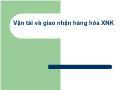 Bảo hiểm xã hội - Vận tải và giao nhận hàng hóa XNK