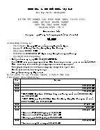 Đề thi tốt nghiệp cao đẳng nghề khoá 3 (2009 - 2012) nghề: Kế toán doanh nghiệp - Môn thi: Thực hành nghề - Mã đề thi: KTDN - TH 11