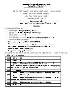 Đề thi tốt nghiệp cao đẳng nghề khoá 3 (2009 - 2012) nghề: Kế toán doanh nghiệp - Môn thi: Thực hành nghề - Mã đề thi: KTDN - TH 18
