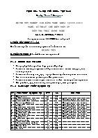 Đề thi tốt nghiệp cao đẳng nghề khóa 3 (2009 – 2012) - Nghề: Kỹ thuật chế biến món ăn - Môn thi: Thực hành nghề - Mã đề thi: KTCBMA – TH 23