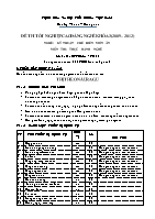 Đề thi tốt nghiệp cao đẳng nghề khóa 3 (2009 – 2012) - Nghề: Kỹ thuật chế biến món ăn - Môn thi: Thực hành nghề - Mã đề thi: KTCBMA – TH 02