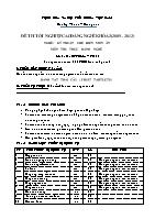 Đề thi tốt nghiệp cao đẳng nghề khóa 3 (2009 – 2012) - Nghề: Kỹ thuật chế biến món ăn - Môn thi: Thực hành nghề - Mã đề thi: KTCBMA – TH 20