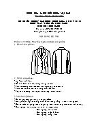 Đề thi tốt nghiệp cao đẳng nghề khoá 3 (2009 - 2012) - Nghề: May - thiết kế thời trang - Môn thi: Thực hành - Mã đề thi: MVTKTT - TH 03