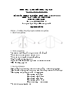 Đề thi tốt nghiệp cao đẳng nghề khoá 3 (2009 - 2012) - Nghề: May - thiết kế thời trang - Môn thi: Thực hành - Mã đề thi: MVTKTT - TH 45