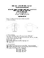 Đề thi tốt nghiệp cao đẳng nghề khoá 3 (2009 - 2012) - Nghề: May - thiết kế thời trang - Môn thi: Thực hành - Mã đề thi: MVTKTT - TH 46