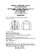 Đề thi tốt nghiệp cao đẳng nghề khoá 3 (2009 - 2012) - Nghề: May - thiết kế thời trang - Môn thi: Thực hành - Mã đề thi: MVTKTT - TH 34