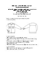 Đề thi tốt nghiệp cao đẳng nghề khoá 3 (2009 - 2012) - Nghề: May - thiết kế thời trang - Môn thi: Thực hành - Mã đề thi: MVTKTT - TH 19