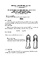 Đề thi tốt nghiệp cao đẳng nghề khoá 3 (2009 - 2012) - Nghề: May - thiết kế thời trang - Môn thi: Lý thuyết chuyên môn nghề - Mã đề thi: MVTKTT – LT 28