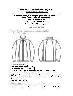 Đề thi tốt nghiệp cao đẳng nghề khoá 3 (2009 - 2012) - Nghề: May - thiết kế thời trang - Môn thi: Thực hành - Mã đề thi: MVTKTT - TH 36