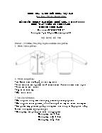 Đề thi tốt nghiệp cao đẳng nghề khoá 3 (2009 - 2012) - Nghề: May - thiết kế thời trang - Môn thi: Thực hành - Mã đề thi: MVTKTT - TH 17