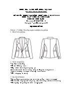 Đề thi tốt nghiệp cao đẳng nghề khoá 3 (2009 - 2012) - Nghề: May - thiết kế thời trang - Môn thi: Thực hành - Mã đề thi: MVTKTT - TH 40