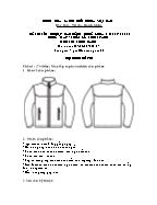 Đề thi tốt nghiệp cao đẳng nghề khoá 3 (2009 - 2012) - Nghề: May - thiết kế thời trang - Môn thi: Thực hành - Mã đề thi: MVTKTT - TH 37
