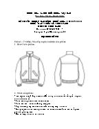 Đề thi tốt nghiệp cao đẳng nghề khoá 3 (2009 - 2012) - Nghề: May - thiết kế thời trang - Môn thi: Thực hành - Mã đề thi: MVTKTT - TH 47