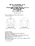 Đề thi tốt nghiệp cao đẳng nghề khoá 3 (2009 - 2012) - Nghề: May - thiết kế thời trang - Môn thi: Thực hành - Mã đề thi: MVTKTT - TH 48