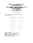 Đề thi tốt nghiệp cao đẳng nghề khoá 3 (2009 - 2012) - Nghề: May - thiết kế thời trang - Môn thi: Thực hành - Mã đề thi: MVTKTT - TH 07