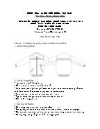 Đề thi tốt nghiệp cao đẳng nghề khoá 3 (2009 - 2012) - Nghề: May - thiết kế thời trang - Môn thi: Thực hành - Mã đề thi: MVTKTT - TH 08