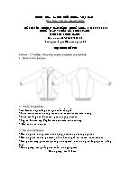 Đề thi tốt nghiệp cao đẳng nghề khoá 3 (2009 - 2012) - Nghề: May - thiết kế thời trang - Môn thi: Thực hành - Mã đề thi: MVTKTT - TH 28
