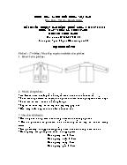 Đề thi tốt nghiệp cao đẳng nghề khoá 3 (2009 - 2012) - Nghề: May - thiết kế thời trang - Môn thi: Thực hành - Mã đề thi: MVTKTT - TH 16