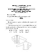 Đề thi tốt nghiệp cao đẳng nghề khoá 3 (2009 - 2012) - Nghề: May - thiết kế thời trang - Môn thi: Lý thuyết chuyên môn nghề - Mã đề thi: MVTKTT – LT 42