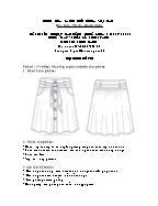 Đề thi tốt nghiệp cao đẳng nghề khoá 3 (2009 - 2012) - Nghề: May - thiết kế thời trang - Môn thi: Thực hành - Mã đề thi: MVTKTT - TH 31