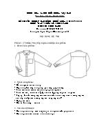 Đề thi tốt nghiệp cao đẳng nghề khoá 3 (2009 - 2012) - Nghề: May - thiết kế thời trang - Môn thi: Thực hành - Mã đề thi: MVTKTT - TH 11