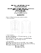 Đề thi tốt nghiệp cao đẳng nghề khoá 3 (2009 - 2012) - Nghề: May - thiết kế thời trang - Môn thi: Thực hành - Mã đề thi: MVTKTT - TH 29