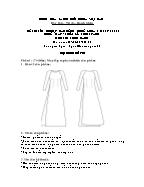 Đề thi tốt nghiệp cao đẳng nghề khoá 3 (2009 - 2012) - Nghề: May - thiết kế thời trang - Môn thi: Thực hành - Mã đề thi: MVTKTT - TH 22