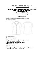 Đề thi tốt nghiệp cao đẳng nghề khoá 3 (2009 - 2012) - Nghề: May - thiết kế thời trang - Môn thi: Thực hành - Mã đề thi: MVTKTT - TH 32