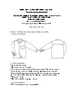 Đề thi tốt nghiệp cao đẳng nghề khoá 3 (2009 - 2012) - Nghề: May - thiết kế thời trang - Môn thi: Thực hành - Mã đề thi: MVTKTT - TH 04