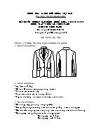 Đề thi tốt nghiệp cao đẳng nghề khoá 3 (2009 - 2012) - Nghề: May - thiết kế thời trang - Môn thi: Thực hành - Mã đề thi: MVTKTT - TH 02