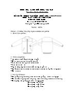 Đề thi tốt nghiệp cao đẳng nghề khoá 3 (2009 - 2012) - Nghề: May - thiết kế thời trang - Môn thi: Thực hành - Mã đề thi: MVTKTT - TH 10