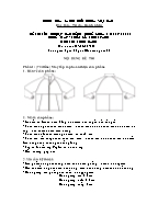 Đề thi tốt nghiệp cao đẳng nghề khoá 3 (2009 - 2012) - Nghề: May - thiết kế thời trang - Môn thi: Thực hành - Mã đề thi: MVTKTT - TH 44