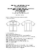Đề thi tốt nghiệp cao đẳng nghề khoá 3 (2009 - 2012) - Nghề: May - thiết kế thời trang - Môn thi: Thực hành - Mã đề thi: MVTKTT - TH 24