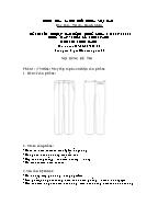 Đề thi tốt nghiệp cao đẳng nghề khoá 3 (2009 - 2012) - Nghề: May - thiết kế thời trang - Môn thi: Thực hành - Mã đề thi: MVTKTT - TH 06