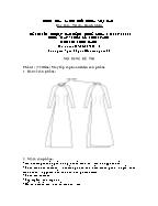 Đề thi tốt nghiệp cao đẳng nghề khoá 3 (2009 - 2012) - Nghề: May - thiết kế thời trang - Môn thi: Thực hành - Mã đề thi: MVTKTT - TH 41