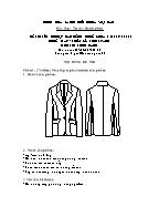 Đề thi tốt nghiệp cao đẳng nghề khoá 3 (2009 - 2012) - Nghề: May - thiết kế thời trang - Môn thi: Thực hành - Mã đề thi: MVTKTT - TH 01