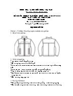 Đề thi tốt nghiệp cao đẳng nghề khoá 3 (2009 - 2012) - Nghề: May - thiết kế thời trang - Môn thi: Thực hành - Mã đề thi: MVTKTT - TH 35