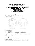 Đề thi tốt nghiệp cao đẳng nghề khoá 3 (2009 - 2012) - Nghề: May - thiết kế thời trang - Môn thi: Thực hành - Mã đề thi: MVTKTT - TH 23