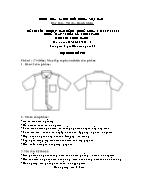 Đề thi tốt nghiệp cao đẳng nghề khoá 3 (2009 - 2012) - Nghề: May - thiết kế thời trang - Môn thi: Thực hành - Mã đề thi: MVTKTT - TH 49