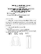 Đề thi tốt nghiệp cao đẳng nghề khoá 3 (2009 - 2012) - Nghề: May - thiết kế thời trang - Môn thi: Lý thuyết chuyên môn nghề - Mã đề thi: MVTKTT – LT 46