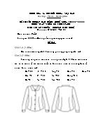 Đề thi tốt nghiệp cao đẳng nghề khoá 3 (2009 - 2012) - Nghề: May - thiết kế thời trang - Môn thi: Lý thuyết chuyên môn nghề - Mã đề thi: MVTKTT – LT 50
