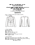 Đề thi tốt nghiệp cao đẳng nghề khoá 3 (2009 - 2012) - Nghề: May - thiết kế thời trang - Môn thi: Thực hành - Mã đề thi: MVTKTT - TH 39