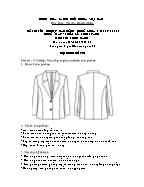 Đề thi tốt nghiệp cao đẳng nghề khoá 3 (2009 - 2012) - Nghề: May - thiết kế thời trang - Môn thi: Thực hành - Mã đề thi: MVTKTT - TH 15