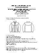 Đề thi tốt nghiệp cao đẳng nghề khoá 3 (2009 - 2012) - Nghề: May - thiết kế thời trang - Môn thi: Thực hành - Mã đề thi: MVTKTT - TH 38