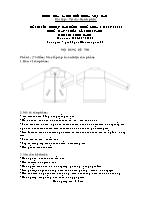 Đề thi tốt nghiệp cao đẳng nghề khoá 3 (2009 - 2012) - Nghề: May - thiết kế thời trang - Môn thi: Thực hành - Mã đề thi: MVTKTT - TH 09
