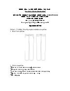 Đề thi tốt nghiệp cao đẳng nghề khoá 3 (2009 - 2012) - Nghề: May - thiết kế thời trang - Môn thi: Thực hành - Mã đề thi: MVTKTT - TH 30