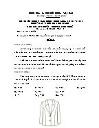 Đề thi tốt nghiệp cao đẳng nghề khoá 3 (2009 - 2012) - Nghề: May - thiết kế thời trang - Môn thi: Lý thuyết chuyên môn nghề - Mã đề thi: MVTKTT – LT 41
