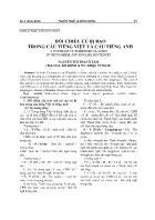 Đối chiếu cú bị bao trong câu tiếng Việt và câu Tiếng Anh