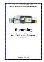 E - Learning tài liệu tập huấn xây dựng bài giảng điện tử theo chuẩn e - learning